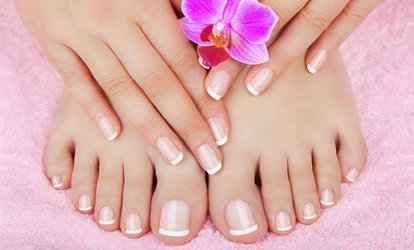 Shellac Manicure, Pedicure or Both at Blake's Hair and Beauty (Up to 54% Off)