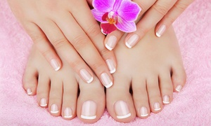 Blakes Hair And Beauty: Shellac Manicure, Pedicure or Both at Blake's Hair and Beauty (Up to 54% Off)
