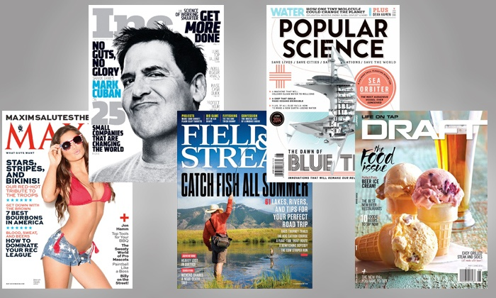 Blue Dolphin Magazines: Subscription to Popular Science, Field & Stream, Inc, Draft, or Maxim from Blue Dolphin Magazines (Up to 75% Off)