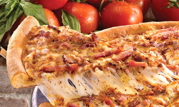 Papa John's - Multiple Locations: Large Three-Topping Pizza or Party Package with Five Pizzas from Papa John's (Up to 48% Off). Two Locations Available.