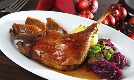 Gänsekeule oder Entenkeule mit Beilagen für Zwei oder Vier im Endlos Restaurant Café (44% sparen*)