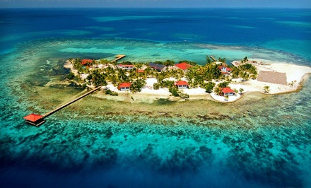 3- or 6-Night All-Inclusive Stay for Two in a Duplex Cabana at Hatchet Caye Resort in Belize. Includes Taxes and Fees.