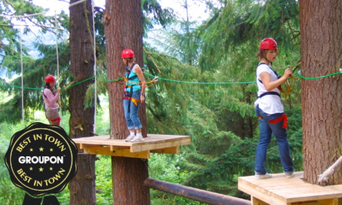 Get Wet The Adventure Company - Nr Llandderfel: High Ropes Course Entry from £10 at The Get Wet Adventure Company (Up to 65% Off)
