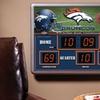 NFL Scoreboard Wall Clock