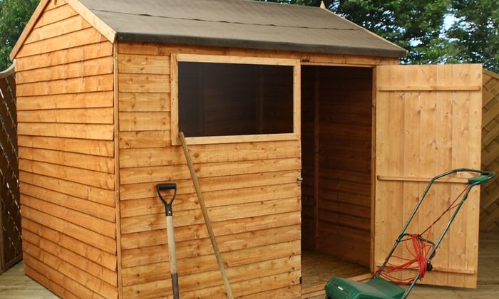 Overlap Apex Shed Groupon