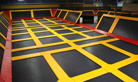 Trampoline Time, Private Dodgeball-Court Rental, or Cosmic Jump Party at Sky High Sports (Up to 58% Off)