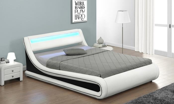 Tot 57% op Bed met led-verlichting | Groupon Producten