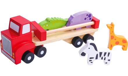 Camión de animales de madera Tooky Toys