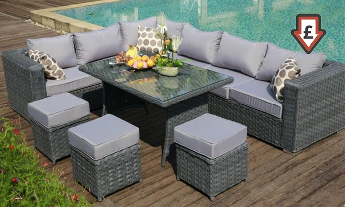 Groupon Goods Global GmbH: Papaver Rattan Garden Furniture Range ...