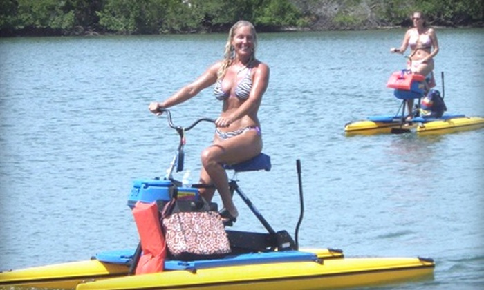 Paddleboard New Smyrna Beach - North Causeway: Two-Hour Rental of One Tandem Hydrobike or Two Single Hydrobikes for Two at Paddleboard New Smyrna Beach (Up to 72% Off)