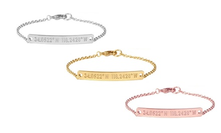 $69 for a Personalized Nile Bracelet from Coordinates Collection ($166 Value)