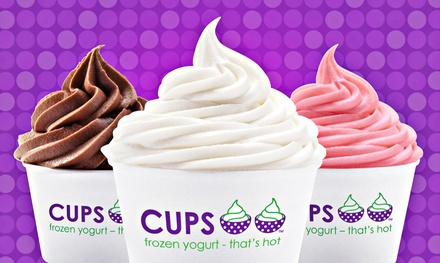 Custom Frozen Yogurt Creations at Cups Frozen Yogurt – That's Hot (50% Off)