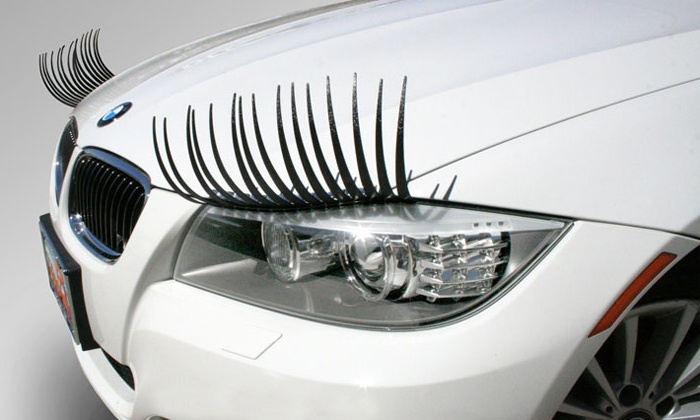 CarLashes: Headlight Eyelashes from CarLashes (Half Off). Two Options Available.