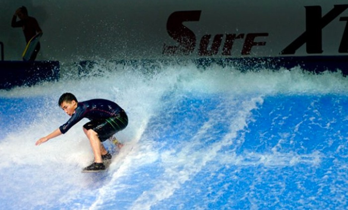 Surf Xtreme - Elk Grove: One Hour of Indoor Surfing and Trampolining for One, Two, or Four at Surf Xtreme (Half Off)