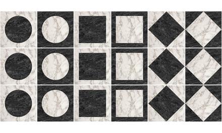 Fino a 72 adesivi per piastrelle geometriche Made in Italy disponibili in 3 modelli e dimensioni