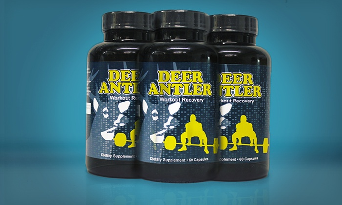 Deer Antler Velvet Extract Capsules: 1-, 2-, or 3-Pack of Deer Antler Workout Supplement (Up to 78% Off). Free Shipping for Purchases of $15 or More.