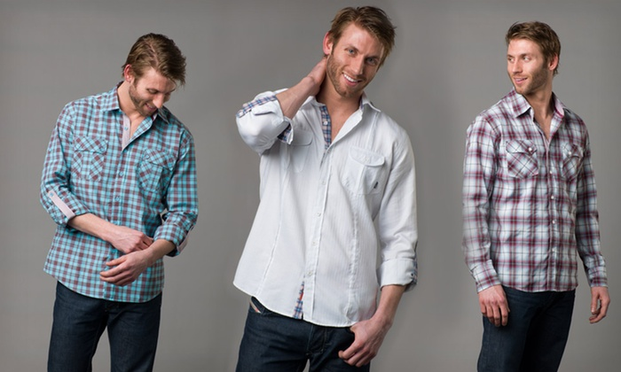 191 Unlimited Men's Slim Fit Shirts: $24.99 for a 191 Unlimited Men's Slim Fit Shirts ($89 List Price). 8 Styles Available. Free Shipping and Returns.