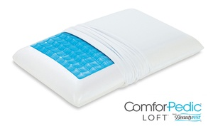 ComforPedic Loft by Beautyrest Memory Foam Pillow  at ComforPedic Loft from Beautyrest Low-Profile Memory Foam and Cooling Gel Pillow (1 or 2 Pack, plus 6.0% Cash Back from Ebates.