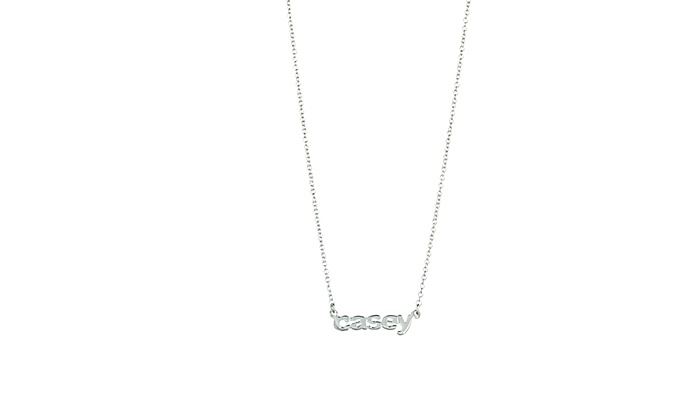 Personalized Sterling Silver Necklace with Names from Luce Mia (Up to 74% Off)