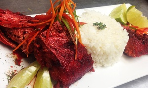 Mangoville Soul Caribbean Resaturant: Caribbean Cuisine at Mangoville Soul Caribbean Resaturant (Up to 38% Off). Two Options Available.