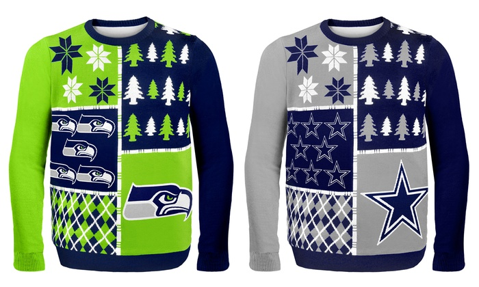 reputable site 6e23e 9f20e NFL Ugly Sweaters Busy Block | Groupon
