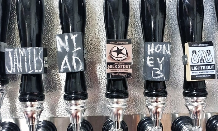 J Wells Brewery - Boulder: Beer Tasting for Two or Four with Optional Growlers at J Wells Brewery         (Up to 46% Off)