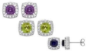 1.3 Cttw Gemstone Earrings