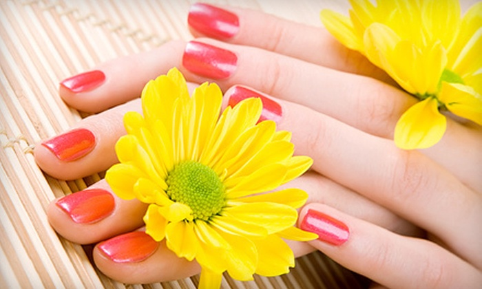 Vivaldi Salon Suites - Multiple Locations: Mani-Pedi or a Full Set of Acrylic Nails at Vivaldi Salon Suites (Up to 74% Off)
