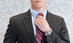 Cuffs & Collars: $625 for a Men's Tailored Suit Package at Cuffs and Collars (Up to a $1,644 Total Value)