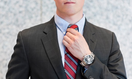 $595 for a Men's Custom-Tailored Suit Package at Cuffs and Collars (Up to a $1,644 Total Value)