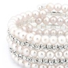 Reduced Price: Crystal and Pearl Bracelet with Swarovski Elements