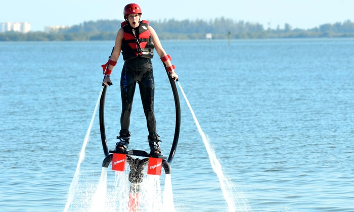 Indy Flight Academy & Watersports - Multiple Locations: 30-Minute Per Person Flyboard Water-Jet Session for Two or Four from Indy Flight Academy & Watersports (Up to 51% Off)