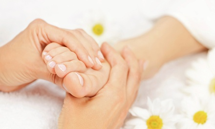 One or Two 60-Minute Foot Reflexology Massage with Mineral Sea-Salt Scrub at A Room of Therapy (Up to 54% Off)