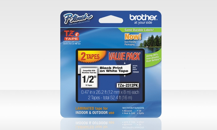 2-Pack of Black on White Labeling Tape: 2-Pack of Black on White Labeling Tape. Free Returns.