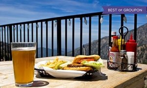 Mt Baldy Ski Lifts: Scenic Lift Ride and Lunch, Breakfast, or Dinner for Two, Three, or Four at Mt Baldy Ski Lifts (Up to 66% Off)