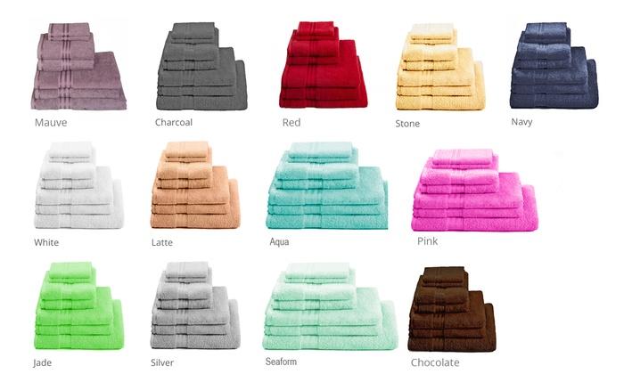 7 teiliges baumwoll handtuch set groupon goods. Black Bedroom Furniture Sets. Home Design Ideas