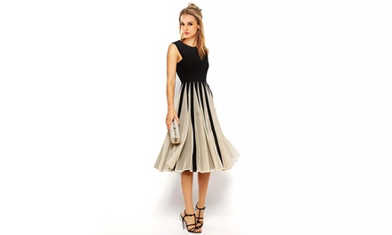 Jade & Juliet Helene Dress with Chiffon Skirt