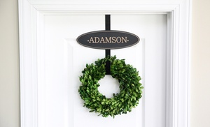 Wreath Hanger With 1 2 Or 3 Interchangeable Custom Name Plates Up To 54 Off Five Options