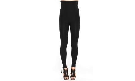 Black Fuchsia High-Waist Shapewear Leggings