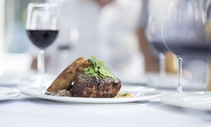 image for Sirloin Steak and Wine for Two or Four with Willow Restaurant at Milton Barns Hotel