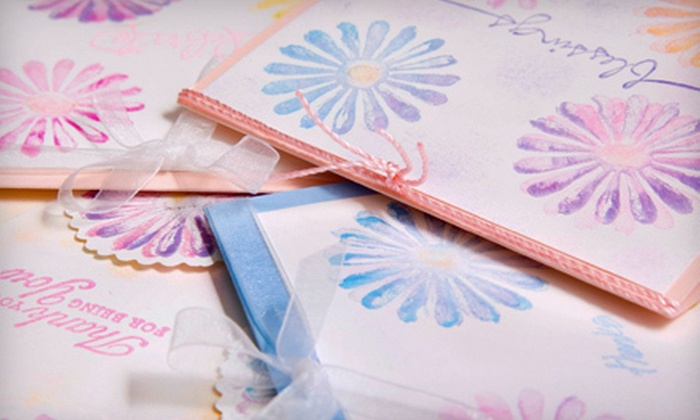 Send U My Love - Oakhill Jackson: Card-Making Class for Two, Three, or Four at Send U My Love (Half Off)
