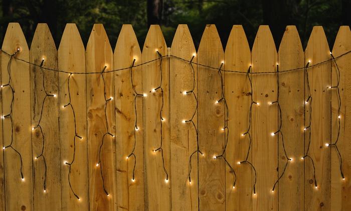 Droplite Solar Powered Outdoor Curtain String Lights (100 LEDs): Droplite  Solar  ...