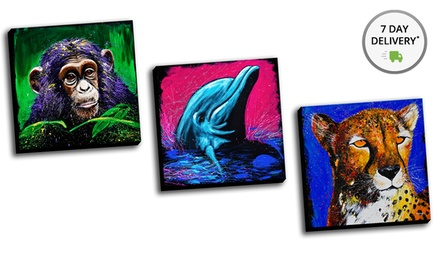 Splash Animals Gallery-Wrapped Canvas Print. Multiple Prints Available. Free Returns.