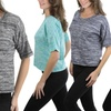 Women's Plus Size Hacci Short Sleeve Sweater