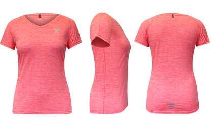0019c372028 Shop Groupon Women s Marathon Short-Sleeve T-shirt. Plus Sizes Available.