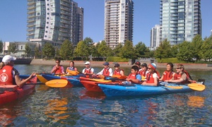 Vancouver Boating BC: Two-Hour Single or Tandem Kayak Rental or Intro to Kayaking Class from Vancouver Boating BC (Up to 50% Off)