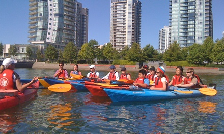 Two-Hour Single or Tandem Kayak Rental or Intro to Kayaking Class from Vancouver Boating BC (Up to 50% Off)