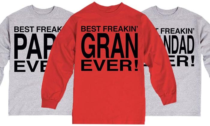 Best Freakin' Grandpa Long-Sleeve T-Shirt