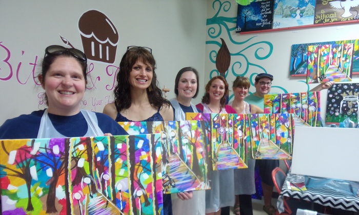 Bites And Brushes - Bites And Brushes: Up to 51% Off BYOB Painting Class at Bites And Brushes