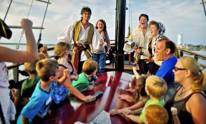 Dark Star Pirate Cruises - Wildwood Crest: One-Hour Pirate Cruise for Two or Four from Dark Star Pirate Cruises (Up to 51% Off)